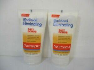 2 Pack Neutrogena Blackhead Eliminating Daily Scrub Gently Exfoliates 4.2 Fl oz