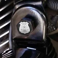 Black Billet Horn Cover Mounting Nut Kit For Harley - SILVER POLICE BADGE H020