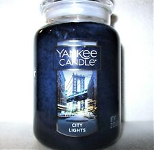 """Yankee Candle """"City Lights"""" ~ Large 22 oz.~New York~Limited Edition ~White Label"""