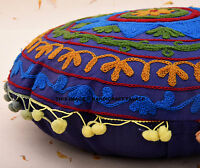 Indian Uzbek Hand Embroidered Suzani Cushion Cover Vintage Bed Decor Pillow Case