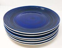 Set of 6 Royal Norfolk Blue Swirl Dinner Plates 10.5 Inch *FREE SHIPPING*