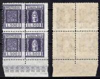 #867 - Repubblica - Coppia marche da bollo Contratti di borsa, 1957 - Nuovi (**)