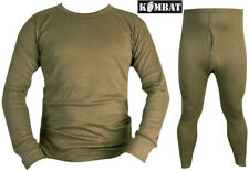 Mens Army Winter Thermal Long Johns Bottoms Base Layer Top Underwear Military