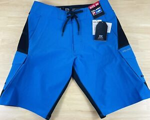 PELAGIC FX-90 Teflon Tactical Fishing Blue Boat Shorts, 1003181012, Men's Sz 30