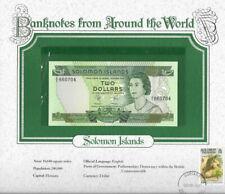 World Banknotes Solomon Islands 1977 $2 UNC P5 Prefix A/2