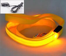 RECHARGEABLE LED Light-up GLOW LEASH Dog Pet Night Safety Flash Lead MICRO USB