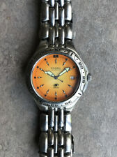 Fossil Mens Watch AM-3575 Orange Dial And Rotating Bezel  Bin I