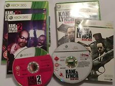 2 X Complet Jeux XBOX 360 KANE & LYNCH 1/I hommes morts & 2/II Chien Jours PAL
