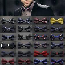 Hommes Mariage Liens Satin Tuxedo Réglable Classique Noeud Papillon Cravate