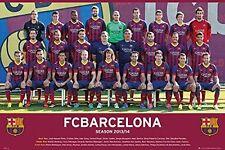 SOCCER POSTER FC Barcelona Team 2013-2014