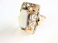 Antiker Ring Silber 900/ Gold 585 mit Opal, 3,86 g