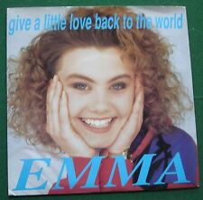"Emma Give a Little Love Back To the World Big Wave Label BWR 33 Porky 7"" Single"
