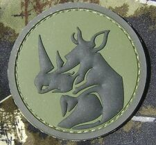 RHINO HEAD 3D TACTICAL MILITARY ARMY MILSPEC FOREST VELCRO® BRAND FASTENER PATCH