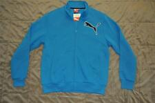 Puma Fleece Zip Track Jacket Aqua Blue Mens Medium NWT FAST HANDLING