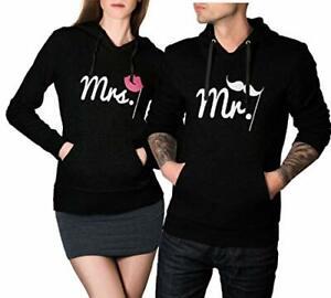 Mr. & Mrs. Hoodie Sweatshirt Pullover Partner Pärchen Look Love Couple