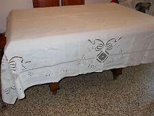 Tovaglia lino+ 6 tovaglioli cm. 202x168  B2 Linen Tablecloth, nappe en lin  (*)