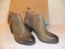 SPERRY TOP-SIDER Dasher Lille Brown Leather Ankle Bootie Size 9 EU 40 NIB $110