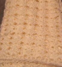 Cream Rectangle Baby Christening blanket