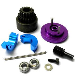 TD10096 1/10 RC Alloy 2 Speed Pin Shoe 16-21T Clutch Kit Flywheel Purple Bearing