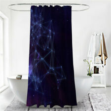 Art Pattern Shower Curtain Bathroom Waterproof Curtain include Hooks Decor LG