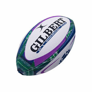Gilbert Scotland Replica Supporter Tartan Rugby Union Ball White - Mini