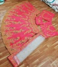 Hot Pink Lehenga Choli Indian Ethnic Party Wear Lengha Chunri Ghagra Skirt Top