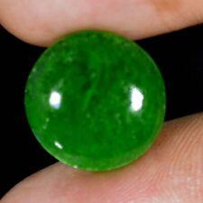 9.95Cts Super Finest Natural Green Chinese Jade Jadeite 15 mm Round Cab Gemstone