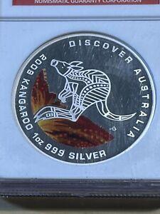 2009-P Australia $1 Discover Australia Kangaroo Graded Gem Proof by NGC!!