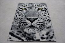 Quality Grey Green Eye Leopard Rug 120cm x 170cm Jungle Safari Animal Print