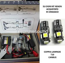 KIT LUCI XENON CENTRALINE SLIM BALLAST H7 6000K 35W + luci posizione T10 canbus