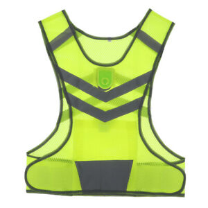 Safety Reflective Vest with LED Lights for Running Cycling Sports-Yellow, L 1