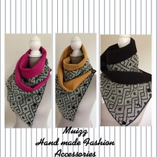 Hand Made Unisex Versatile Infinity Scarf/ Snood/ Neck Warmer - Geometric Knit