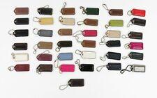 37 Piece Coach 2″ Lot of Leather Hang tag Charm Key Fob Charm Keychain Tag