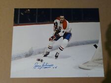 Jean Beliveau Montreal Canadians signed 8x10 Photo  - Montreal Forum