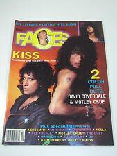 Faces Rocks Magazine-October 1987 Kiss Motley Crue Aerosmith-Rock Metal