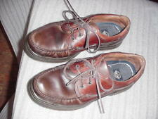 Mens Used Dockers #90-91508 10 M brown leather  boat oxford shoes top sider