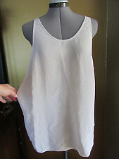 EILEEN FISHER PROJECT Off White 100% Silk Cami Wide Open On the Sides Size Small