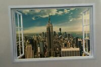 New York Sunset Empire state building window wall sticker 90x60cm selfadhesive