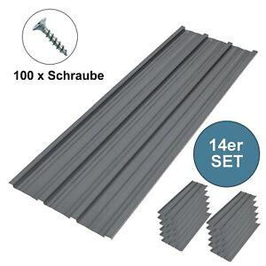 14x Profilblech Stahlblech Trapezblech Blech Metall Dachblech DachPlatten Grau