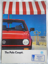 VW Polo Coupe brochure Jan 1990