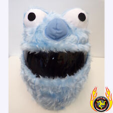 Azul Elmo FUNNY heeds Crazy Choque Funda para casco