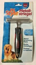TRIXIE RED / BLACK METAL GROOMING RAKE FOR LONG HAIRED DOGS BRAND NEW FREE P&P