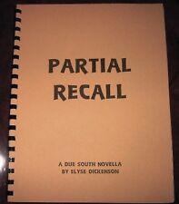 "Due South Fanzine ""Partial Recall"" GEN Novel RayV/Frasier"