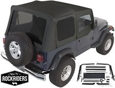 1987-1995 Jeep Wrangler YJ Complete Soft Top with Hardware Kit in Black