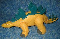 """Fisher Price Imaginext 14.5"""" Yellow Stegosaurus Dinosaur Mattel 2011"""