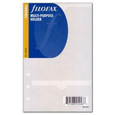 Filofax Personal Size Multi Purpose Holder Insert Refill Note Organiser -133624