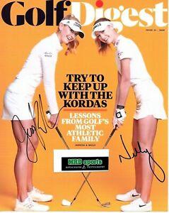 Jessica & Nelly Korda LPGA duo signed autographed 8x10 golf photo coa b