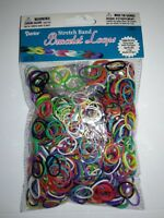 Darice Stretch Band Bracelet Loops (1,000) & Clips (36), Various Colors in Pkg