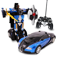 Kids RC Toy Transforming Robot Remote Control Car Inferno For Boys 1:14 Scale