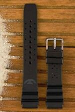 Squale 1521 OEM 20mm Black Natural Rubber Dive Watch Strap